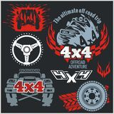 Off-road Elements And Emblem - Vector Set Royalty Free Stock Photos