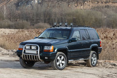 Off-road expedition, compact four wheel drive off road and sport utility vehicle royalty free stock images