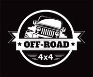 Off-road 4x4 extreme car adventure club vector icon. Off-road 4x4 extreme car adventure club logo. Vector icon of off road car or truck with wheel tires for Vector Illustration