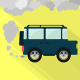 Off-road fuming stock illustration