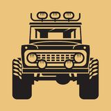 Off-road geïsoleerde auto Expeditie suv silhouet vector illustratie