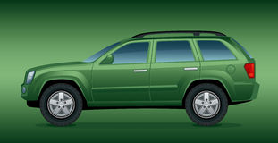 Off-road green car Royalty Free Stock Photo