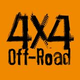 Off Road 4x4-05. Off-Road 4x4 hand drawn grunge lettering. Tire tracks words made from unique letters. Beautiful vector illustration. Editable graphic element in Royalty Free Stock Photo