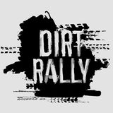 Off-Road Handmade Lettering. Off-Road dirt rally hand drawn grunge lettering. Tire tracks words made from unique letters. Beautiful vector illustration. Editable Royalty Free Stock Image