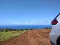 Off Road Hawaii. View found seaside on Hamakua Coast, Capture in July 2017 on Big Island Hawaii Royalty Free Stock Photo