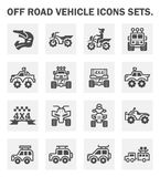 Off road icon. Vector icon and logo design of off-road vehicle Royalty Free Stock Photography