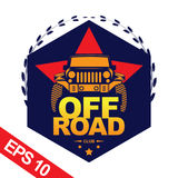Off-road illustratie van het autoembleem, embleem Stock Foto