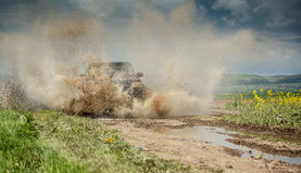 Off road jeep. In mud and dirt splash Royalty Free Stock Photos