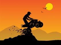 Off-road jump. In mountain safari Royalty Free Illustration