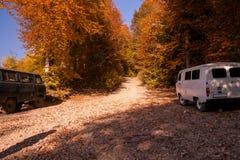 Off-road in Krasnaya Polyana in Sochi in autumn Royalty Free Stock Image