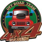 Off road emblem Royalty Free Stock Photography