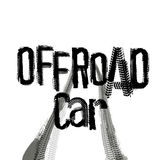Off-Road Lettering Image Stock Photography