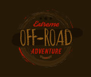 Off-Road Logo Image. Off-road logo. Extreme competition emblem. Off-roading suv adventure and car club elements. Beautiful vector illustration with unique Royalty Free Stock Photo