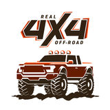 Off-road monster truck pickup illustration Royalty Free Stock Image