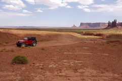 Off-road in monument valley Royalty Free Stock Images