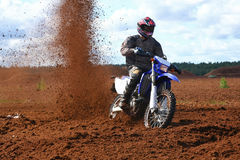 Off-road motorbike in dirt Royalty Free Stock Photo