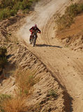 Off Road Motorcycle Racer. In Baja California, Mexico Stock Photos
