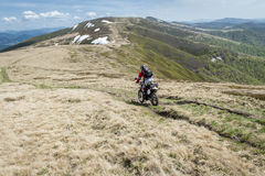 Off-road motorcycle rider Royalty Free Stock Photography