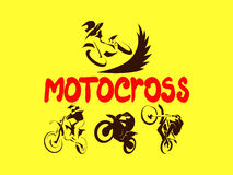 Off road Motorcycles set Stock Images
