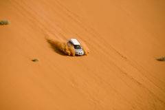 Off-road in the namibian desert Stock Photo