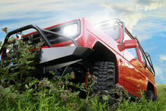 Off-road red car Royalty Free Stock Photo