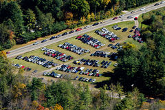 Off road parking, aerial view Royalty Free Stock Photos