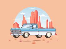 Off Road Pickup Truck Template Royalty Free Stock Photos