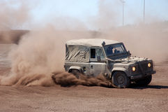 Off road Race. Land Rover in an off-road race Royalty Free Stock Photos