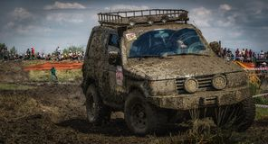 Off road race. Close up shot from off road race Stock Images