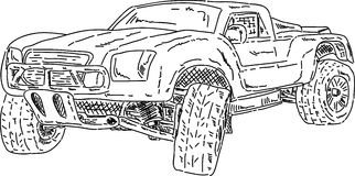 Off-road race short truck Royalty Free Stock Image
