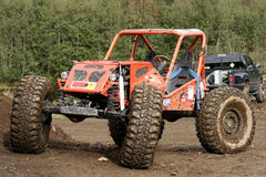 Off Road Racer. Off road racing truck parked in a park ferme stock image