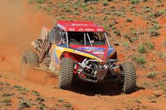Off road racing. Gary and David White in their Ruwacon in action during a South African off road championship event, Bloemfontein, South Africa, 15 October 2011 Royalty Free Stock Image