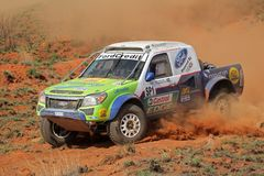 Off road racing. Chris Visser and Japie Badenhorst in their Ford Ranger in action during a South African off road championship event, Bloemfontein, South Africa Royalty Free Stock Images
