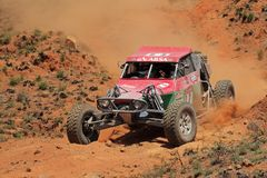 Off road racing. Keith and Andrew Makenete in their Zarco in action during a South African off road championship event, Bloemfontein, South Africa, 15 October Stock Images