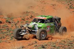Off road racing. John Thompson and Clinton McNamara in their Zarco in action during a South African off road championship event, Bloemfontein, South Africa, 15 Royalty Free Stock Photography