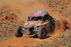 Off road racing. Rudi Britz and Pieter Ruthven in their Ruwacon BAT in action during a South African off road championship event, Bloemfontein, South Africa, 15 Royalty Free Stock Photos