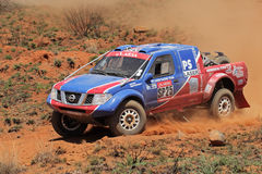 Off road racing. Alfie Cox and Jurgen Schroeder in their Nissan Navara in action during a South African off road championship event, Bloemfontein, South Africa Stock Photos