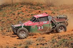 Off road racing. Keith and Andrew Makenete in their Zarco in action during a South African off road championship event, Bloemfontein, South Africa, 15 October Royalty Free Stock Image