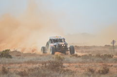 Off-road Racing. Speed and dust makes the heart race fast Stock Photo