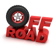 Off-road racing symbol. 3D concept Stock Images