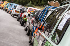 Off road racing. Off-road racing using suzuki vitara vehicles Royalty Free Stock Image