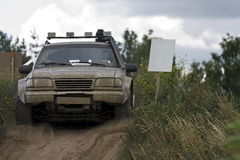 Off road rally stock photography