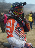 Off-road rider. After the race Nakhodka Russia 04.12.2015 Stock Photos