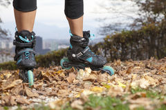 Off road roller skating Royalty Free Stock Images
