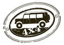 Off road rubber stamp. Royalty Free Stock Photo