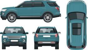 Off-road schrijf auto Modern VIP vervoer royalty-vrije illustratie