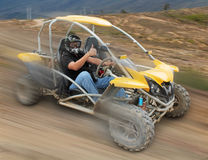 Off Road speed buggy. Off Road  speed buggy on desert Stock Images