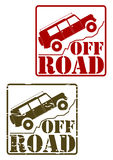 Off road stamp set Royalty Free Stock Photo