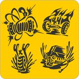 Off-Road symbols - vector set Stock Photo