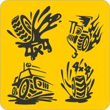 Off-Road symbols - vector set Stock Photography